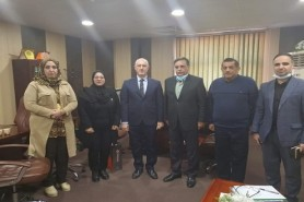 A delegation of the Iraqi Society for Engineering Management and Noor Al-Ofuq Company visited the